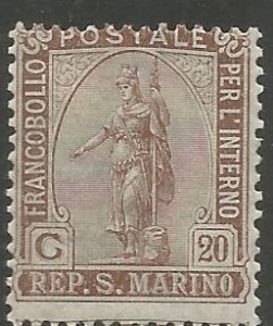 SAN MARINO  37  HINGED,  STATUE OF LIBERTY