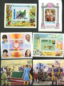 LIBERIA  Sc#531//C222 1970-82 23 Highly Topical Souvenir Sheets OG Mint NH