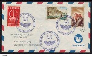 France Aero Philately Day 1966 cover to Brisbane Australia