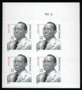 US #3428 Dr. Jonas Salk Plate # Block of 4; MNH (5.50)