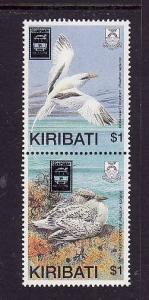 Kiribati-Sc#535a-Unused NH set-Birds overprinted-Stampshow--1989-