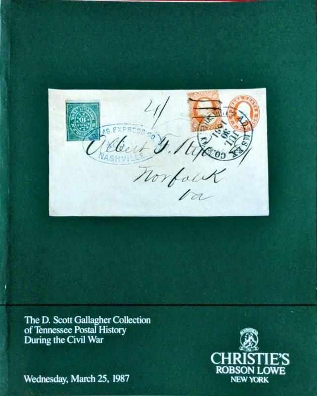 Auction Catalogue D Scott Gallagher TENNESSEE CIVIL WAR POSTAL HISTORY
