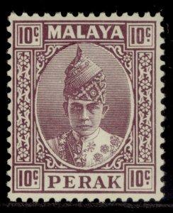 MALAYSIA - Perak GVI SG112, 10c dull purple, M MINT. Cat £40.