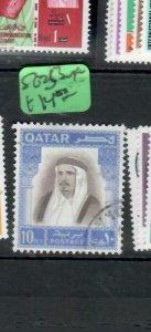 QATAR (P2708B)   SHEIKH 10 RLS  SG 253    VFU