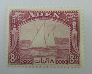 1937 Aden Yemen SC #8 Sailboats  MH stamp