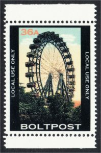 Ferris Wheel Fantasy Stamp Artistamp by BoltPost Local Post