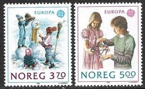 NORWAY 1989 EUROPA Children's Games Set Sc 942-943 MNH