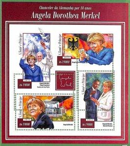 A3523-Sao Tome & Principe ERROR MISSPERF 2015 PEOPLE Angela Merkel politic