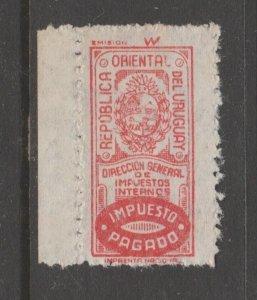 Uruguay Cinderella revenue fiscal stamp 9-20-20
