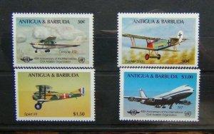 Antigua 1985 40th Anniversary of International Civil Aviation Organisation LMM