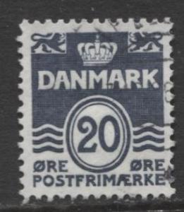 Denmark - Scott 493 - Definitive Issue -1974 - Used - Single 20o Stamp