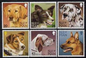 Isle of Man 1996 Dogs set of 6 unmounted mint, SG 719-24