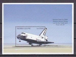 Sierra Leone, Scott cat. 1905. Space Shuttle Landing s/sheet. ^