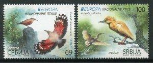 Serbia 2019 MNH Birds Europa Wallcreeper Squacco Heron 2v Set Herons Stamps