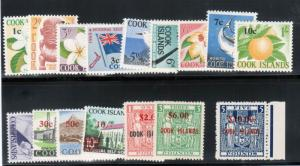 Cook Islands #177 - #194 (SG #218 - #221 Etc) Very Fine Never Hinged