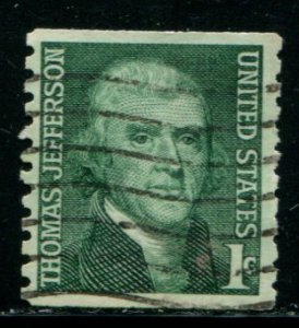 1299 US 1c Jefferson coil, used cv $.20