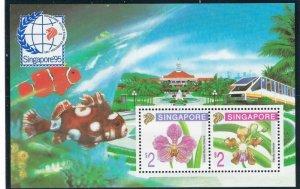Singapore 717c MNH 1995 Flowers S/S (ap6888)