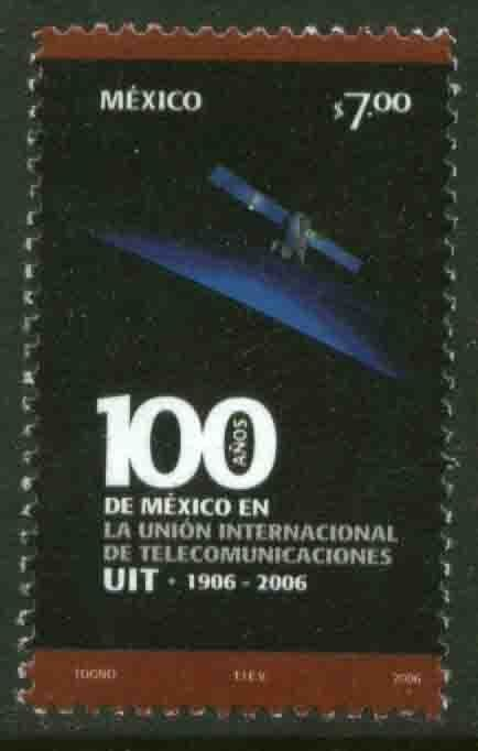 MEXICO 2535, MEXICO IN INTL TELECOMMUNICATIONS UNION CENTENNIAL. MINT N...
