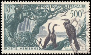 French Equatorial Africa #C37, Complete Set, 1953, Birds, Used
