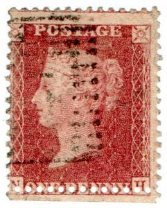 (I.B) QV Postal : SG 40 - 1d Red (mis-perforation)