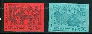 SWEDEN SC# 1228a, 1230a - 2 BOOKLETS - MNH