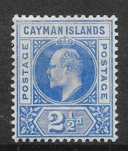 CAYMAN ISLANDS SG5 1902 2½d BRIGHT BLUE MTD MINT