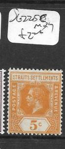 MALAYA STRAITS SETTLEMENTS (PP0605B) KGV    5C    SG 225C      MOG