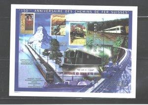 REP. du NIGER 1997 TRAINS  M.S.. #961   MNH