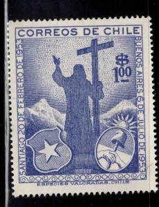 Chile Scott 289, MH* Christ of the Andes 1955