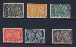 6x Canada Victoria Jubilees Stamps #50-51-52-53-54-56  Guide Value = $215.00