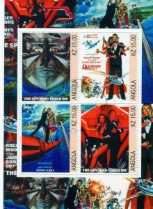 Angola 2002  James Bond 007  Shlt (4) Fine Used