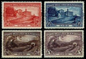 1928 San Marino #111-114 Unused NG-H  - F/VF+ - CV$66.50 (ESP#3149)