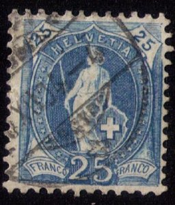 Switzerland Sc 94a Blue Used F-VF