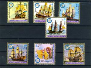 Equatorial Guinea 1973 WARSHIPS (7v) Perforated Mint (NH)