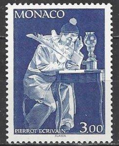 Monaco  1729  MNH  Pierrot Ecrivain