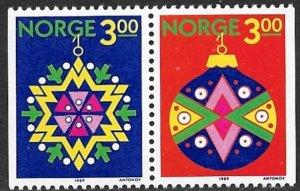 NORWAY 1989 CHRISTMAS Set Sc 952-953 MNH