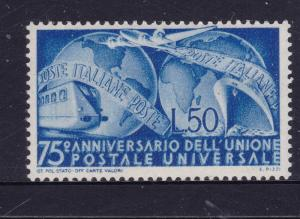 Italy the 1949 UPU MH