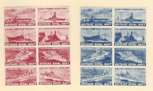 Great Britain (Cinderella), N/L, Royal Navy Two Blks (8),MNH