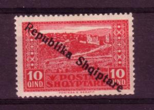 Albania 1925  10q Republic Overprint MVLH SG181