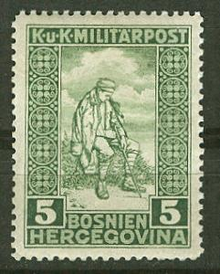 Bosnia & Herzegovina # B9 Wounded Soldier 1916 (1) Unused VLH