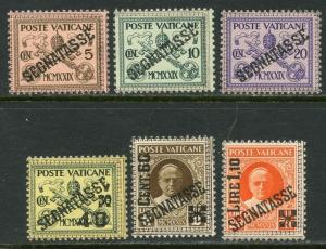 VATICAN Sc#J1-J6 1931 Postage Due Complete Set OG Mint NH
