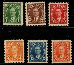 Canada Sc 231-6 1937 1st George VI stamp set mint