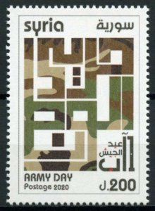 Syria Military & War Stamps 2020 MNH Army Day 1v Set