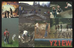 QSL QSO RADIO CARD Petnica Science Center,Pics of Students, Serbia(Q2705)