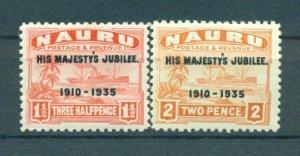 Nauru sc# 31-34 mh cat value $9.90
