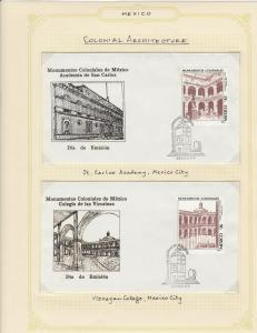 mexico mexican colonial architecture stamps page ref 17248