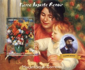 Mozambique 2004 RENOIR Paintings & Claude Monet s/s Perforated Mint (NH)
