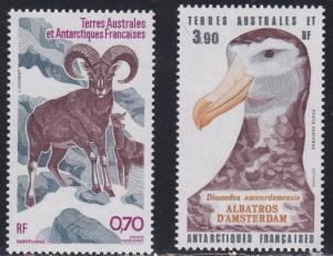 French Southern Antarctic Territory # C85-86, Sheep & Albatross, NH, 1/2 Cat.