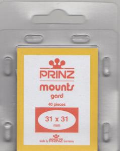 PRINZ CLEAR MOUNTS 31X31 (40) RETAIL PRICE $3.99