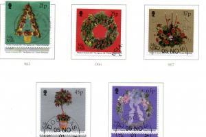 Isle of Man Sc 935-9 2001 Christmas stamp set used